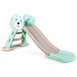 สไลเดอร์ ห่วงบาส 2 อิน 1 สำหรับเด็ก Mini Playground Set หมีสีฟ้า