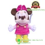 ตุ๊กตามินนี่เมาส์ เบบี้ ชุดเอี๊ยม TC 7 นิ้ว [Disney]