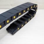 18 x 37 mm Cable Drag Chain 1000mm เปิดฝาวางสายได้ มีจุกข้อต่อ และ End Fits หัวท้าย