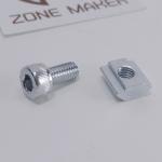 ชุดน็อตยืดร่อง M5 (T-Nut) ยาว 10mm สำหรับอลูมิเนียมโปรไฟล์ สำหรับ 2020