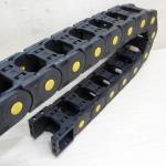 25 X 38 mm Cable Drag Chain HTTL ยาว 1M เปิดฝาวางสายได้ และ End Fits หัวท้าย