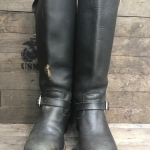 Vintage 1970 Chippewa Engineer Boots 17 Inch Black
