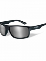 WileyX Peak - 1 Lens - Silver Flash (Smoke Grey) (Frame - Gloss Black)