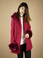 Overcoat Classic Fur - Ruby Red