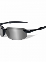 WileyX Tobi - 1 Lens - Polarized Silver Flash (Smoke Grey) (Frame - Gloss Black)