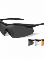 WileyX Vapor - 3 Lens - Smoke Grey/Clear/Rust (Frame - Matt Black)