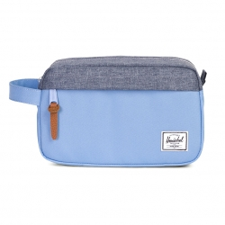 Herschel Chapter Travel Kit - Hydrangea / Dark Chambray Crosshatch