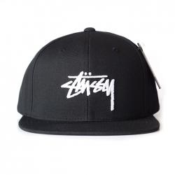 Stussy Stock Snapback - Black