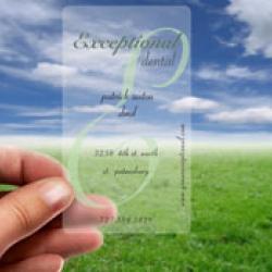 นามบัตรแข็งใส พิมพ์ภาพศิลปิน 500