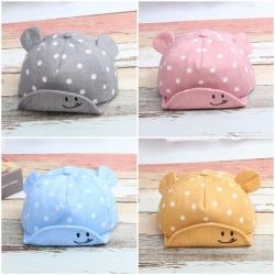 หมวกเด็ก แก๊ปหูหมีหน้ายิ้ม (Hat - BT)