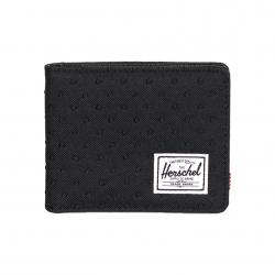 Herschel Hank Wallet - Black / Black Embroidery Polka Dot