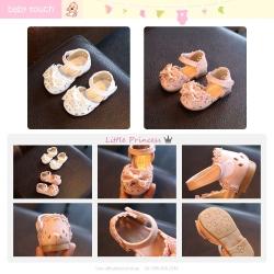 Baby Touch รองเท้าเด็ก รองเท้าพื้นแข็ง แซนเดิล เจ้าสาว (Shoes - FHG1)