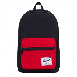 Herschel Pop Quiz Backpack - Black / Scarlet