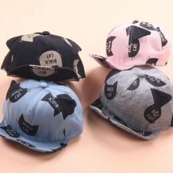 หมวกเด็ก แก๊ป Black Cat (Hat - BW)