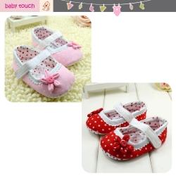 Baby Touch รองเท้าหัดเดิน โพลก้าดอท ดอกไม้ (Shoes - FG5)