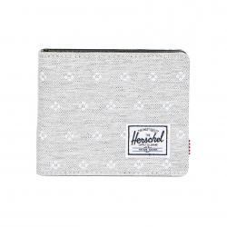 Herschel Hank Wallet - Light Grey Crosshatch Embroidery