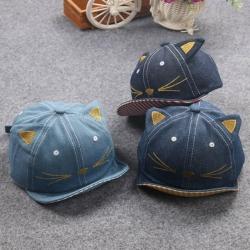 หมวกเด็ก แก๊ปยีนส์มีหู (Hat - BO)