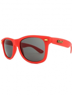 Knockaround Fort Knocks Sunglasses - Red / Smoke