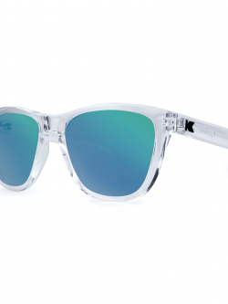 Knockaround Premiums Sunglasses - Clear / Green Moonshine