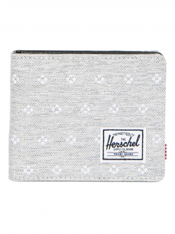 Herschel Hank Wallet - Light Grey Crosshatch Embroidery