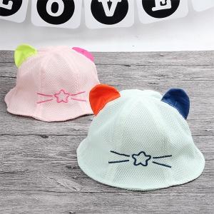 หมวกเด็ก ปีกรอบ พรีเมี่ยม หูกลมแฟนซี (Hat - DM)