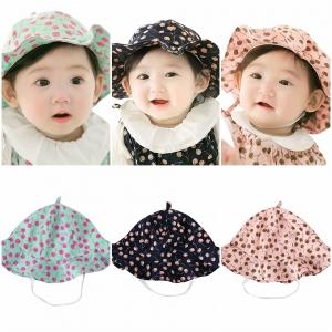 หมวกเด็ก ปีกรอบ เชอร์รี่ (Hat - DN)