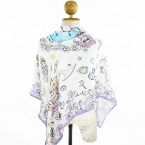 ผ้าพันคอ 'ทัชจัง' ลาย whale&#x2665whale My Little Space - สีขาว