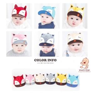 หมวกเด็ก แก็ป แมวเกาหลี จิ้งจอกแสนซน (รุ่นพรีเมี่ยม)
