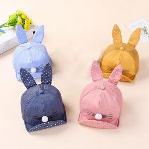หมวกเด็ก แก๊ปจมูกกลมหูยาว (Hat - BU)