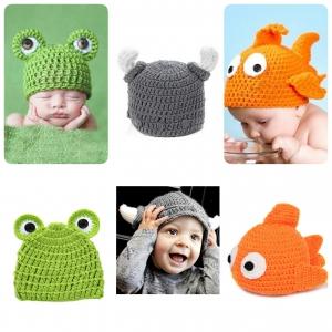 หมวกเด็กแรกเกิด ไหมพรมนิ่ม (รุ่นพรีเมี่ยม)