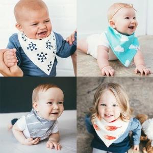 Baby Touch ผ้ากันเปื้อนเด็ก เซตผ้าพันคอ4ผืน รุ่นพรีเมียม (Bibs - BSP)