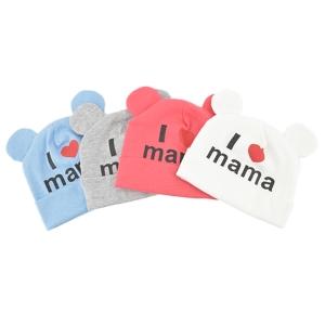หมวกเด็ก พรีเมี่ยม ผ้านิ่ม มีหู Love Mama (Hat - FO)