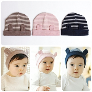 Baby Touch หมวกไหมพรม ผ้านิ่ม มีหู (Hat - FB)