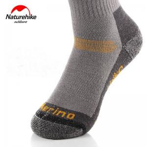 Nature Hike Merino wool sock ถุงเท้าเมอริโน่วูลสำหรับฤดูหนาว (Grey/Yellow)