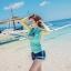 ชุดว่ายน้ำแขนยาวทูพีช พร้อมส่ง ไซส์ M L XL thumbnail 1
