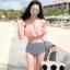 ชุดว่ายน้ำทูพีช บราสีพีช พร้อมส่ง Peach ไซส์ (M) thumbnail 5