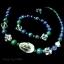 S3012 สร้อยคอข้อมือหินควอตซ์ ลาพิสลาซูรี่ อซูไรต์ แถมต่างหู thumbnail 2
