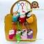 พวงกุญแจแมวนอนหลับในถุงเท้า สีชมพูอ่อน 8x5 CM [มีเสียง] thumbnail 3