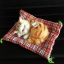 ตุ๊กตาแมวเหมือนจริงนอนหลับ สีเหลืองมีลาย 14x17 CM thumbnail 1