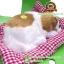 ตุ๊กตาหมานอนหลับ สีเหลืองขาว [เบาะแดง] 19x24 CM thumbnail 5