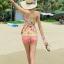 ชุดว่ายน้ำทูพีช มีฟองน้ำเสริม+ช่องสามารถถอดเสริมฟองน้ำได้ เป็นเสื้อแยกกางเกงขาสั้น thumbnail 3