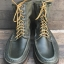 WC Russell moccasins Wisconsin USA Custom handmade boot size 10D