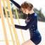 ชุดว่ายน้ำแขนยาวกัน UV ทูพีช ไซส์ M L thumbnail 3