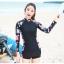 ชุดว่ายน้ำแขนยาวกัน UV ทูพีช (XL) thumbnail 1