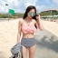 ชุดว่ายน้ำทูพีช บราสีพีช พร้อมส่ง Peach ไซส์ (M) thumbnail 7
