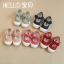Baby Touch รองเท้าเด็ก รองเท้าพื้นแข็ง ผูกโบว์ (Shoes - FHG4) thumbnail 1