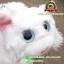 ตุ๊กตา แมวขนเปียก Lying Cat สีขาว 12 นิ้ว [Anee Park] thumbnail 2
