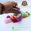 พวงกุญแจแมวนอนหลับในถุงเท้า สีชมพูอ่อน 8x5 CM [มีเสียง] thumbnail 5