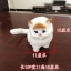 ตุ๊กตาจำลองแมวนั่ง สีขาวหูสีเหลือง 11x15 CM [มีเสียง] thumbnail 4