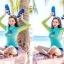 ชุดว่ายน้ำแขนยาวทูพีช พร้อมส่ง ไซส์ M L XL thumbnail 4